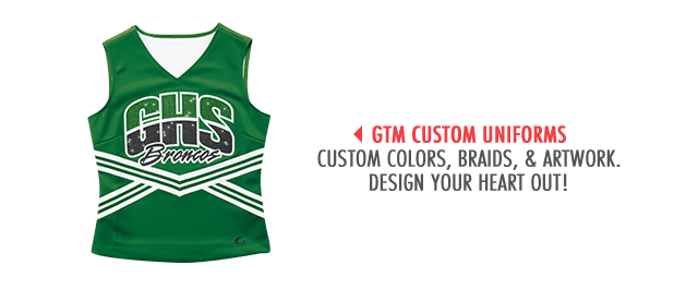 Design Your Heart Out with Cheerleading GTM Custom Uniforms
