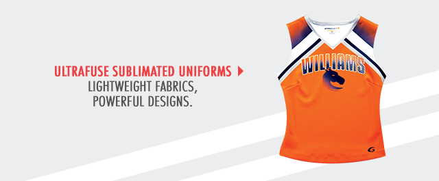 Lightweight, Powerful Designed Cheerleading Sublimation UltraFuse Uniforms